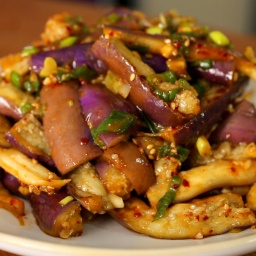 Gaji namul (seasoned steamed eggplant side dish)