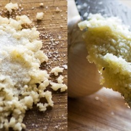 Perfectly smooth garlic paste