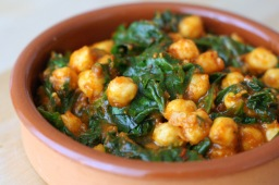 Spanish chickpea & spinach stew (tapas dish)