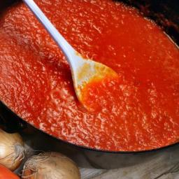 Basic tomato sauce (can be used as a base for lots of more complex sauces)