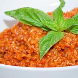 Tomato & basil risotto