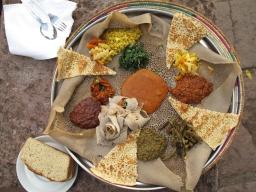 Injera (Ethiopian flatbread)