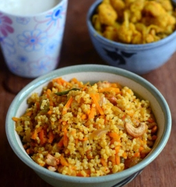 Spiced millet with cashews