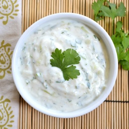 Coconut-lime-coriander yogurt