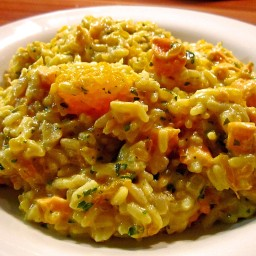 Curry risotto