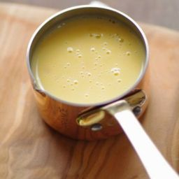Creamy butter-wine sauce